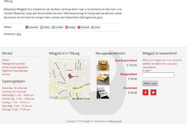 Babyshop Wiegjez.nl Tilburg