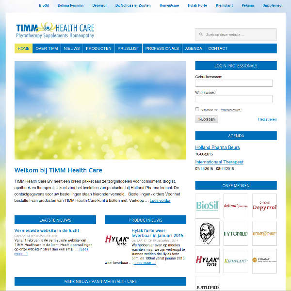Timm Healthcare Website