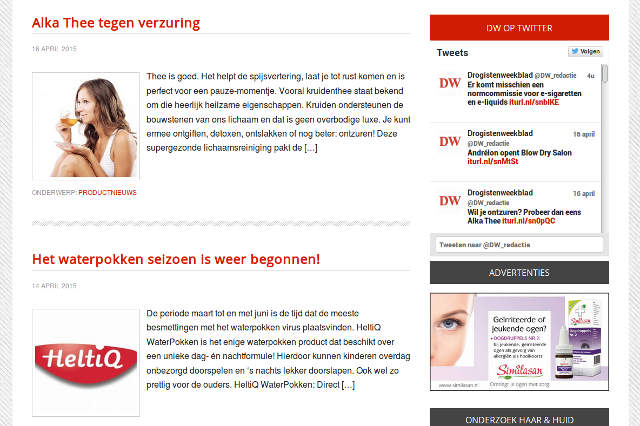 Website Drogistenweekblad