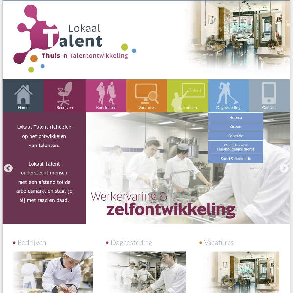Website Lokaal Talent Tilburg