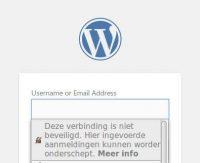 Firefox waarschuwing onbeveligde verbinding
